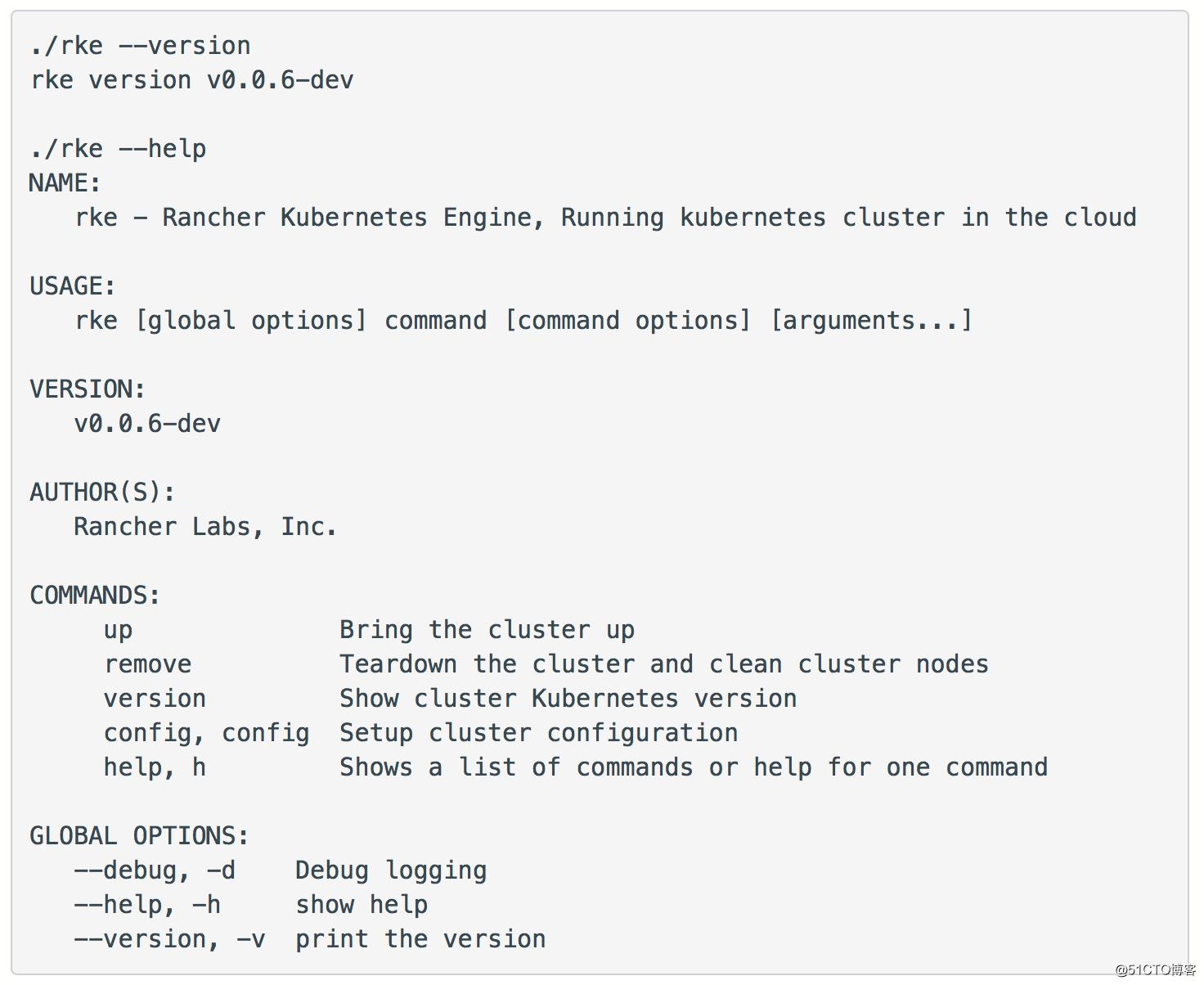 RKE快速上手指南:开源的轻量级K8S安装程序