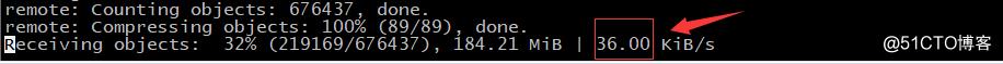 加快git clone 几十倍速度的小方法  (30KB vs 2M)
