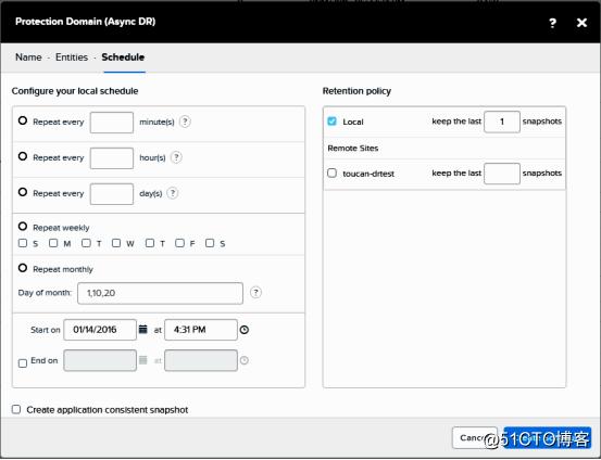 nutanix数据保护功能配置与测试