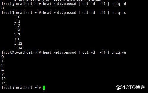 Linux自学笔记grep文本处理工具及wc,cut,sort,uniq命令