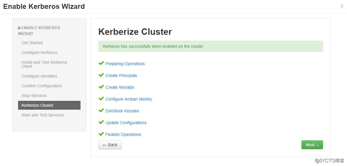 在Ambari上添加Kerberos