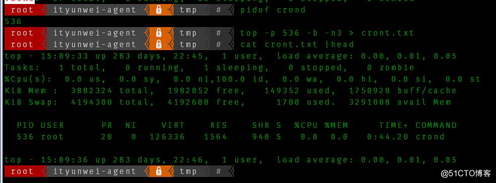 巧用linux-top的批处理模式