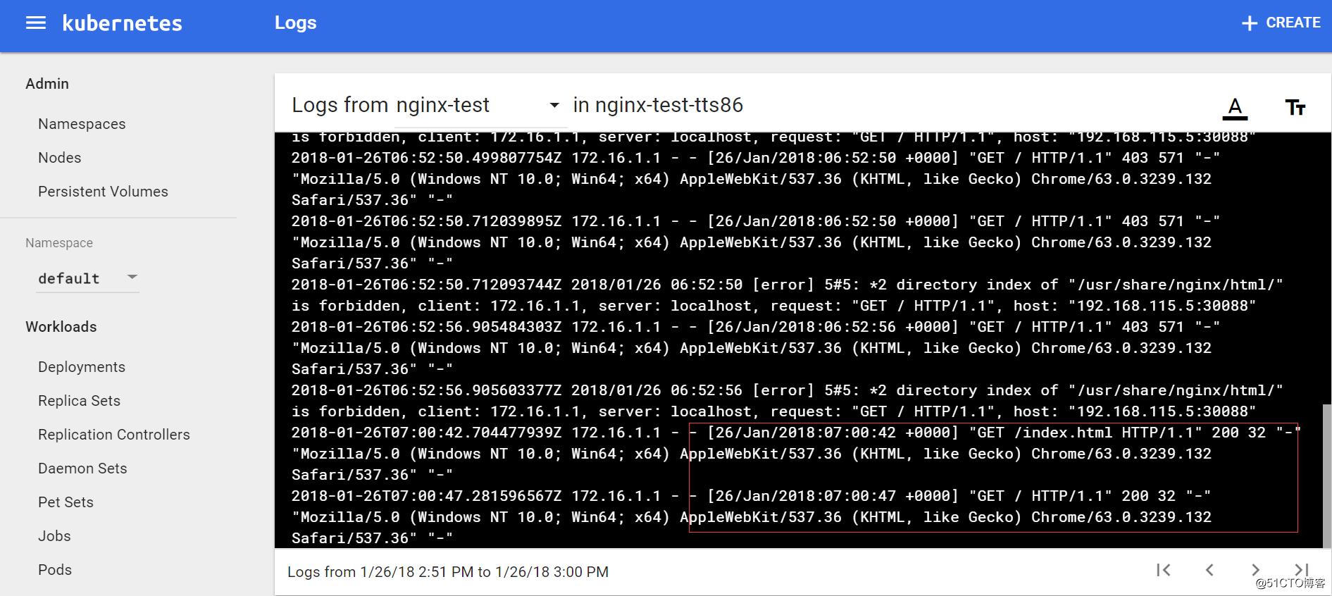 在kubernetes集群中运行nginx