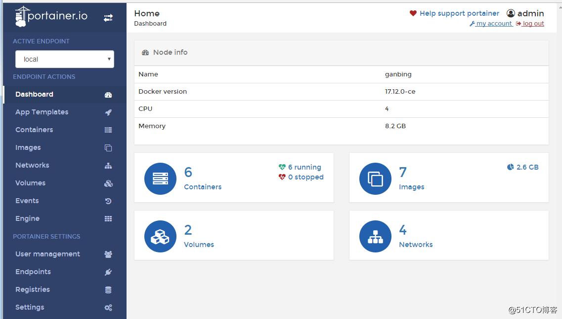 docker:轻量级图形页面管理之Portainer