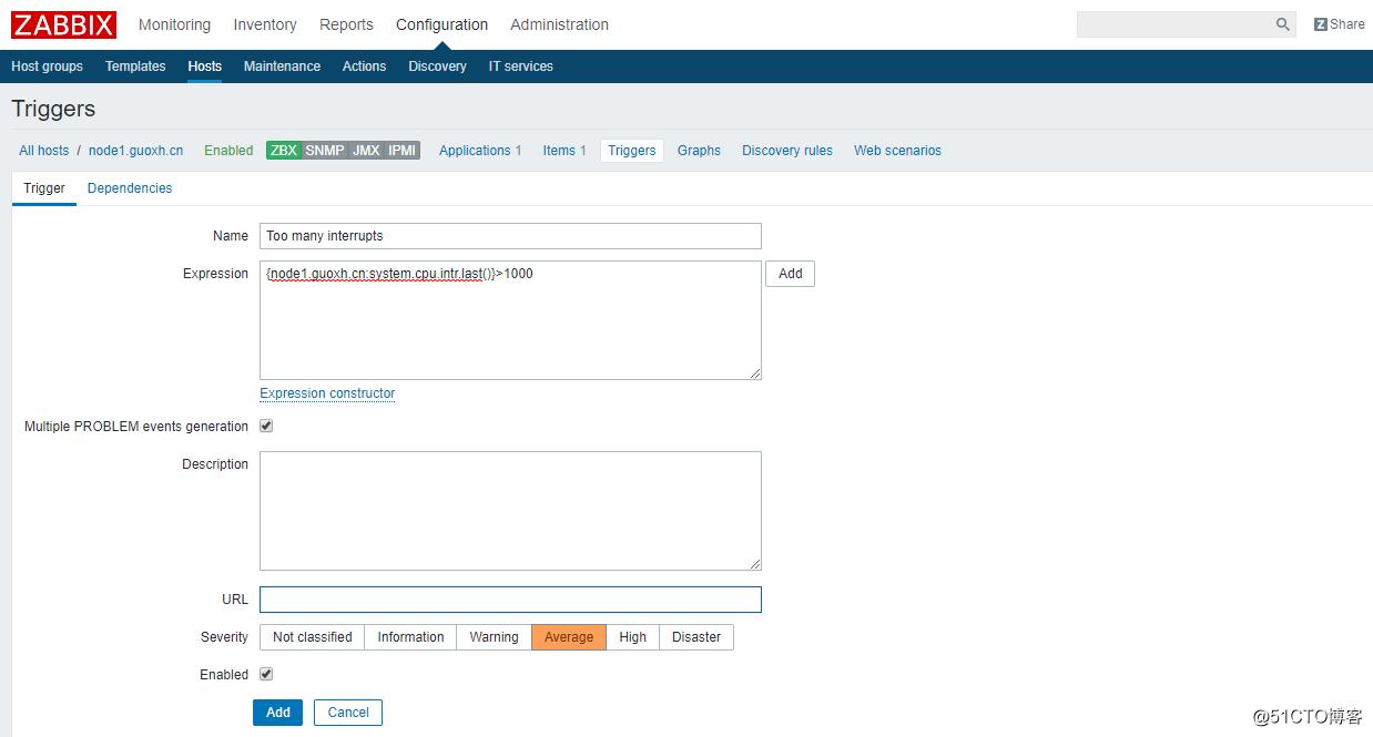 Zabbix 3.0 详解:从添加主机到发送报警通知