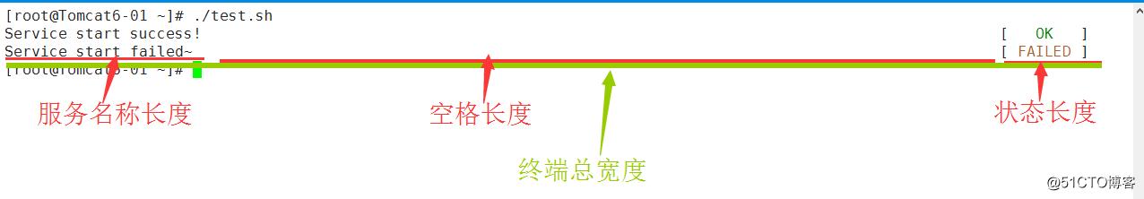 模拟linux开机服务检测打印效果