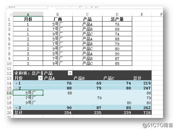 C# 操作Excel数据透视表