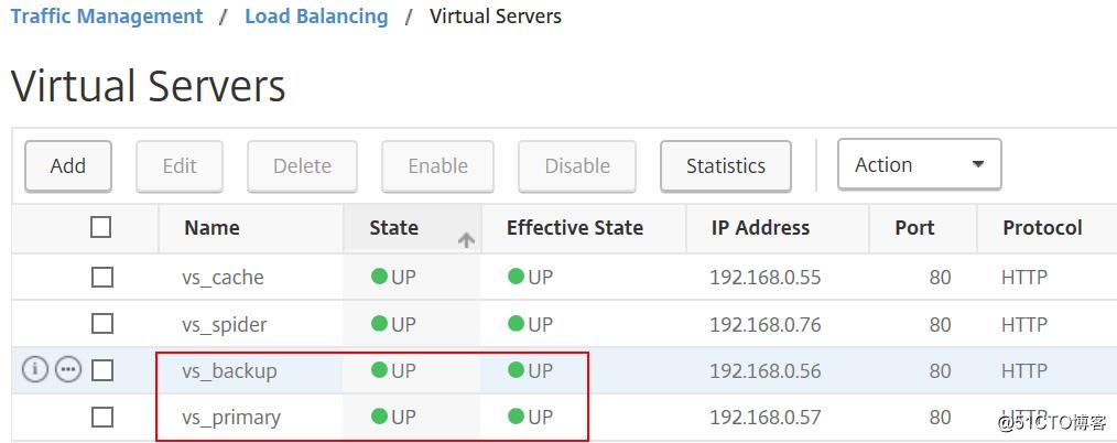 Netscaler实现主备service的控制