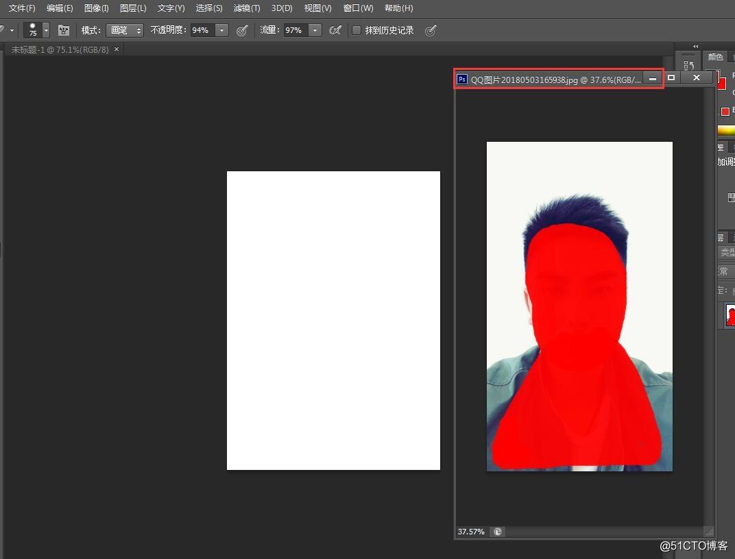利用Photoshop制作二寸照片
