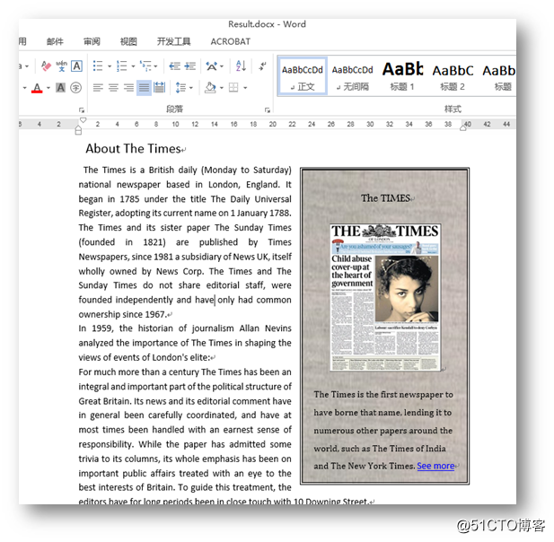 C# 操作Word文本框——插入图片、表格、文字、超链接等