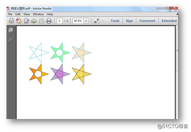 C# 绘制PDF图形——基本图形、自定义图形、色彩透明度