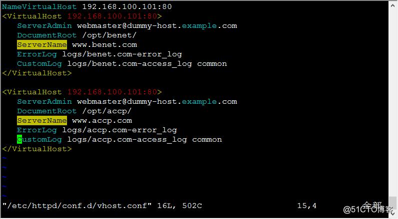 构建虚拟web主机