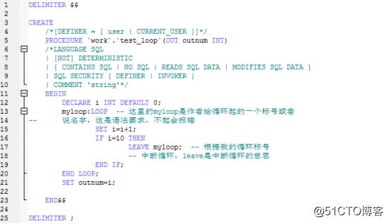 Java学习总结(十八)——MySQL数据库(4)MySQL数据库中的视图,函数,存储过程中常见循环