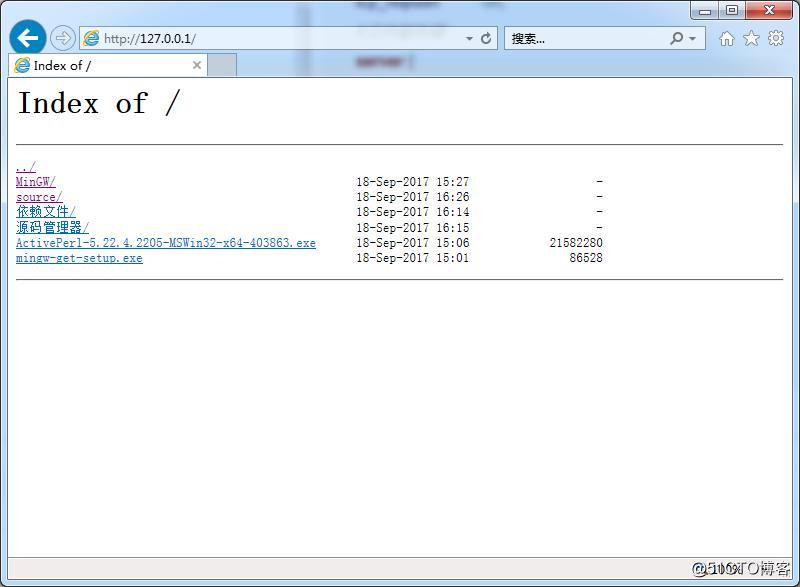 nginx1.15.0-window 文件服务器
