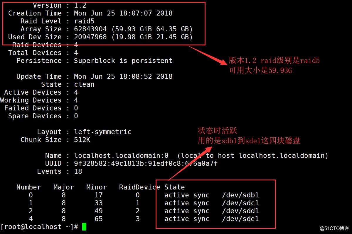 RedHat 6.5中建立Raid5卷(软件磁盘阵列)  ;并且对Raid5卷做磁盘配额