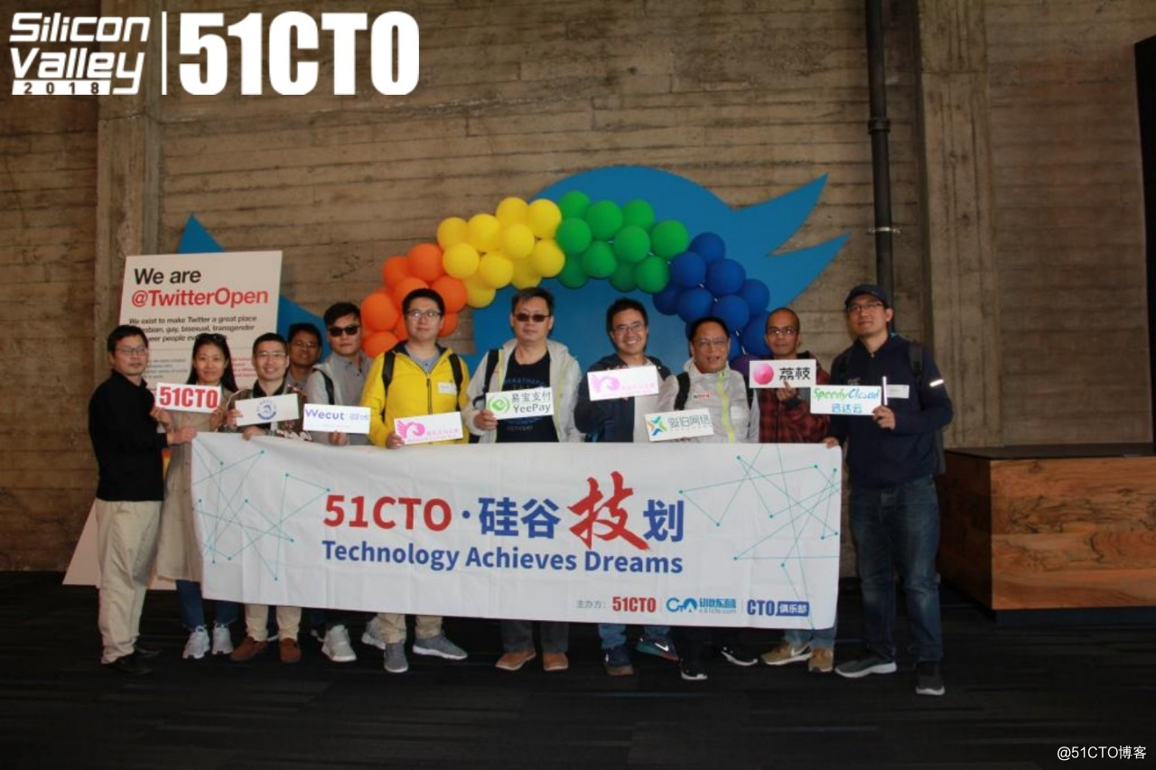 "51CTO 2018""硅谷技划""团队访问Twitter"