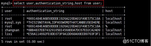 MySQL(mysql 5.7)用户密码的管理