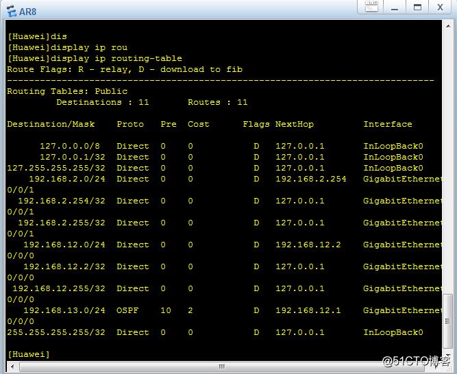 eNSP实现OSPF默认、直连和静态路由重发布