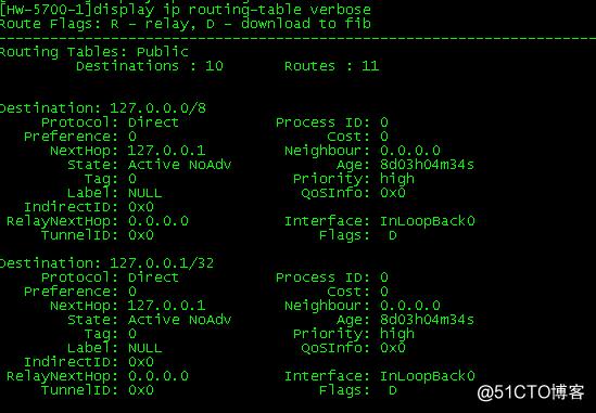 交换机,linux主机及windwos主机上路由表查看
