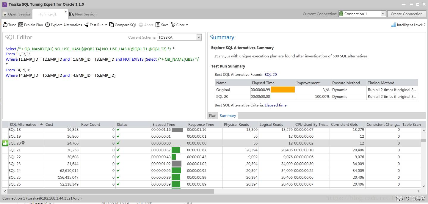 使用工具 SQL Tuning Expert for Oracle 优化SQL语句