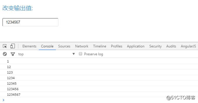 Angularjs中不同类型的双向数据绑定