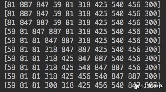 [golang] 数据结构-直接插入排序