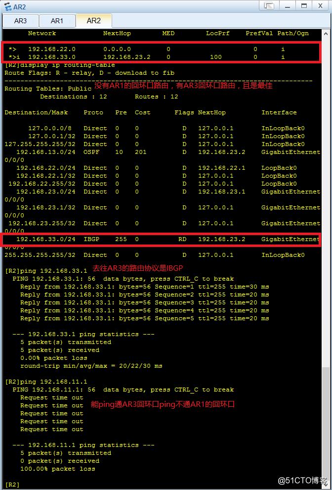动态路由协议BGP反射器的配置