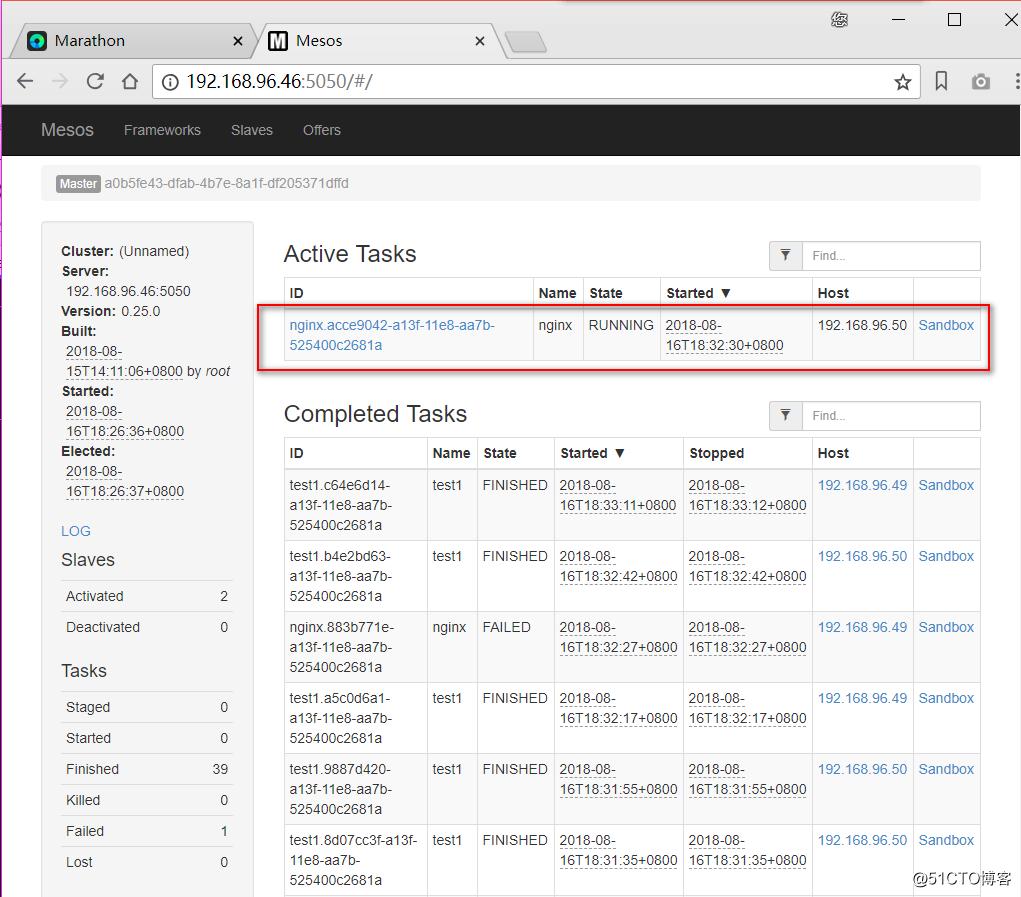 【亲测】Marathon+Mesos+Zookeeper集群平台部署(实现多实例Docker)