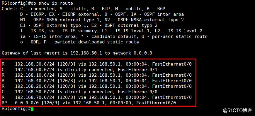 动态路由实现OSPF和RIP协议实现全网互连互通
