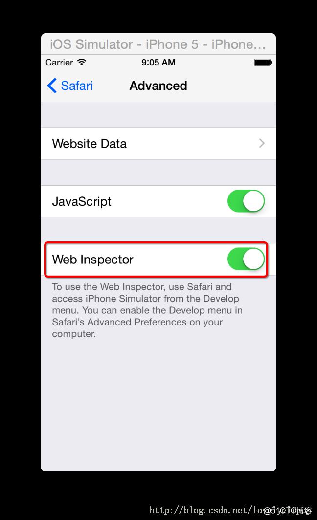 mac使用safari调试ios