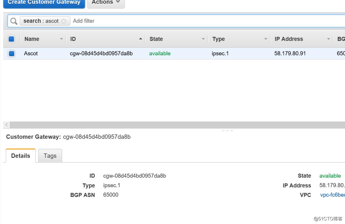 AWS Managed V*P*N 和 vigor Router