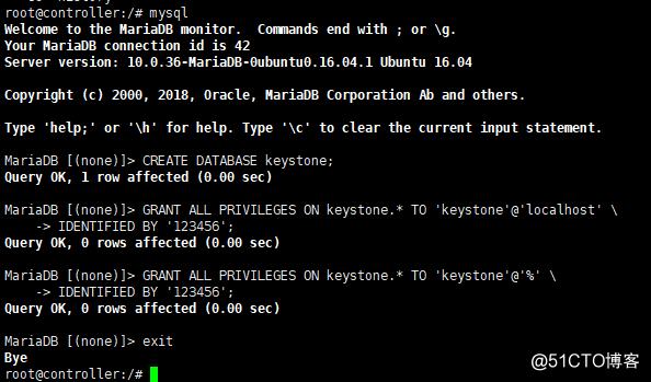 两小时openstack环境搭建(keystone)...未完待续……